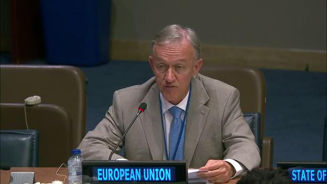 EU delegate speaking at the UN Open-Ended Working Group on Ageing